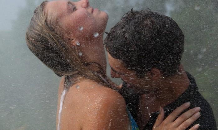 sex in rain storm