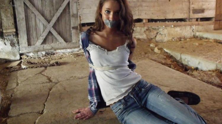 pretty teen girl in bondage