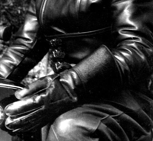 leather fetish biker babe