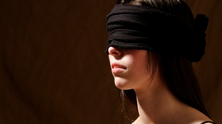 blindfolded woman fantasy
