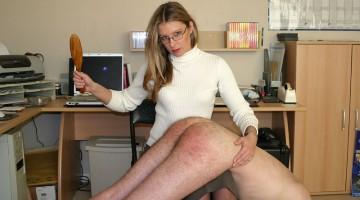 woman spanking man