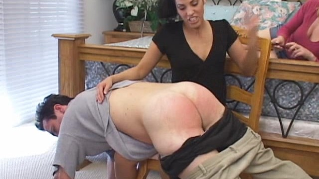 man spanking