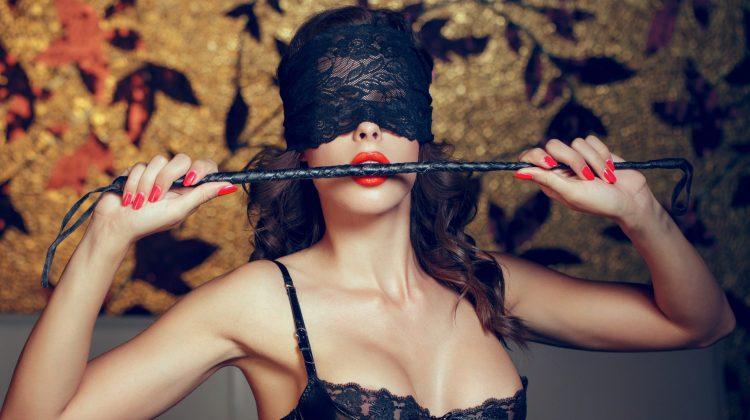 voyeur woman in blindfold